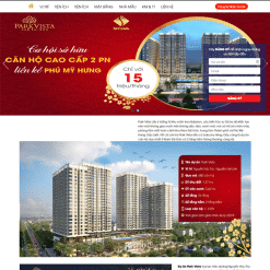 Mẫu website bất động sản 4