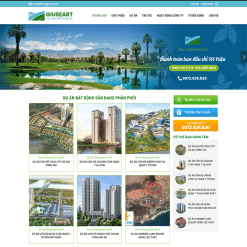 Mẫu website bất động sản 6